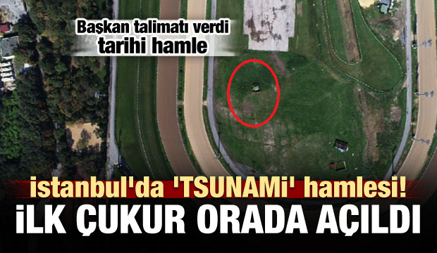 İstanbul'da ilk çukur açıldı! Aranıyor