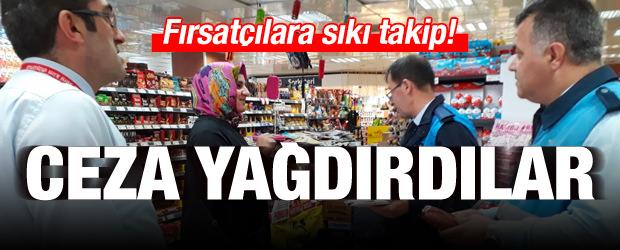 İstanbul'da zabıtadan fiyat etiketi denetimi