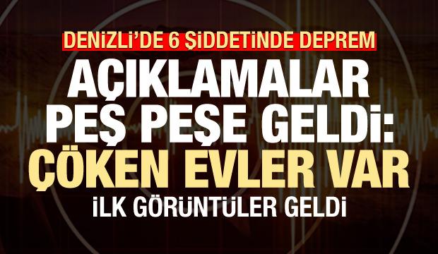 İzmir'deki 4.8'lik depremin ardından Denizli'de de 6 şiddetinde deprem
