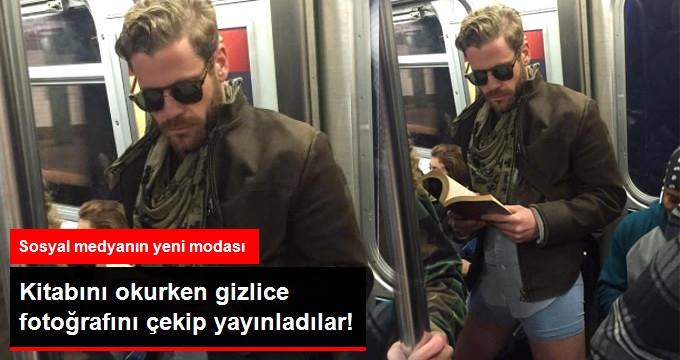 Kitabını Okurken Gizlice Fotoğrafını Çekip Sosyal Medya'da Yayınladılar!