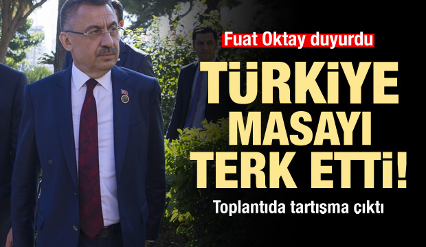 Konferansta gerginlik! Türkiye masadan kalktı