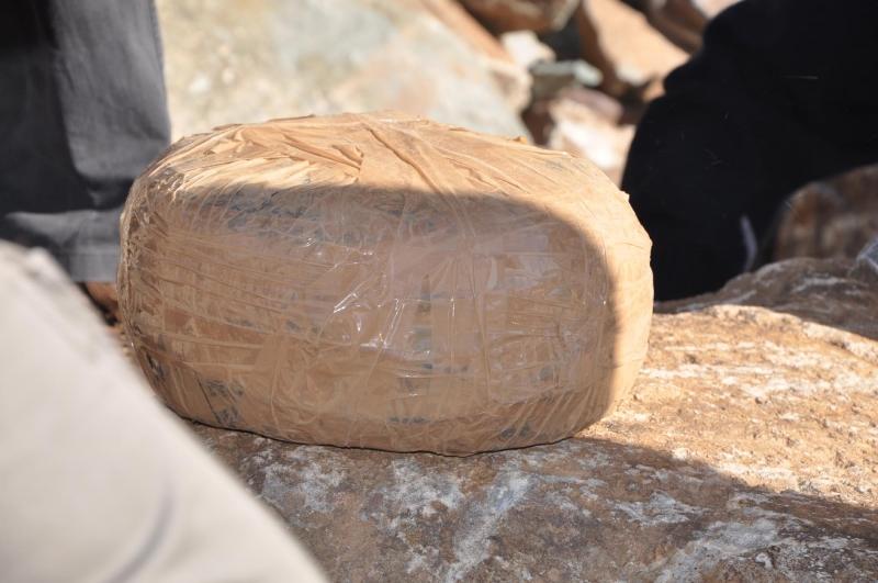 Konya'da yol kenarına gömülü 50 kilo 'C4' bulundu