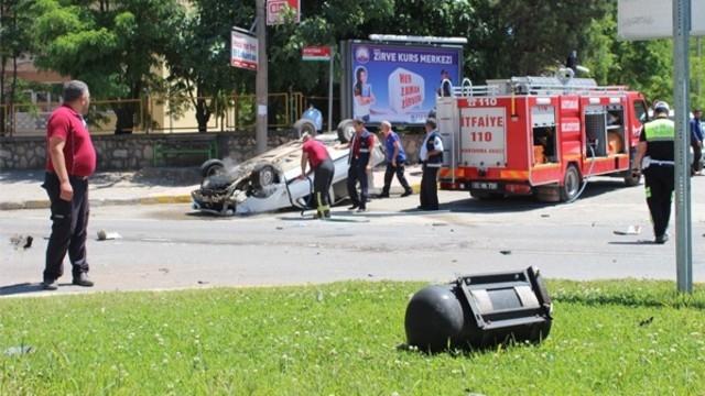 Korkunç Kaza Anı Saniye Saniye Görüntülendi
