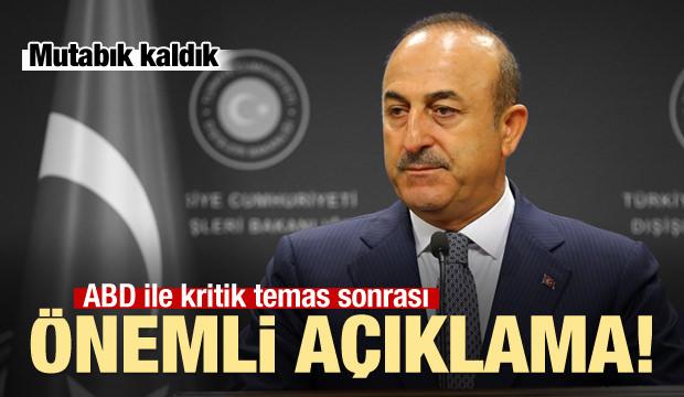 Kriz sonrası Çavuşoğlu'ndan kritik açıklamalar