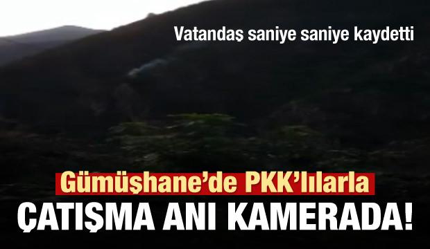 Kürtün'de PKK'lı teröristlerle sıcak temas kamerada