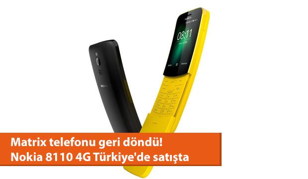 Matrix telefonu geri döndü! Nokia 8110 4G Türkiye'de satışta