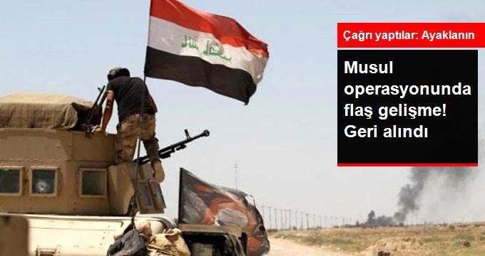 Musul Operasyonunda Flaş Gelişme! Geri Alındı