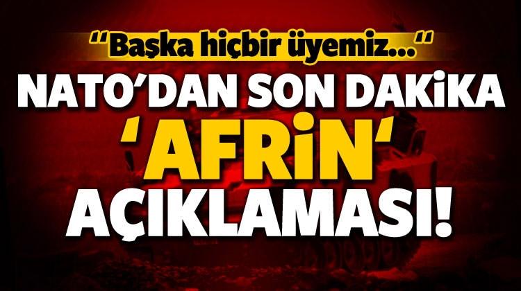 NATO'dan 'Afrin' Açıklaması: Başka Hiç Bir Ülke...