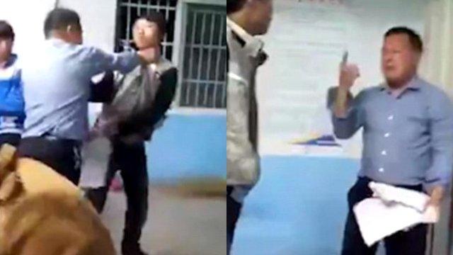 Öğretmenin Tokatlarına Öğrenciler Toplu Halde Saldırarak Cevap Verdi
