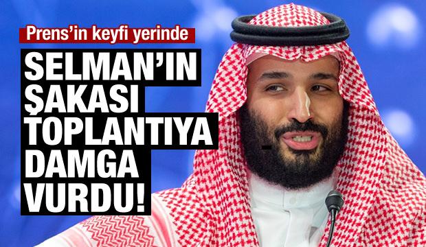 Prens Selman'ın şakası konferansa damga vurdu!