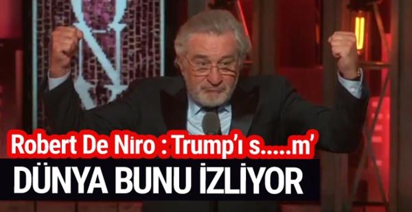 Robert De Niro Canlı Yayında Trump'a Küfretti...