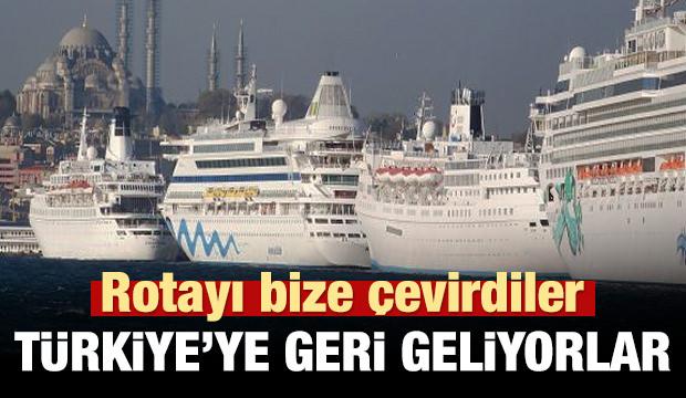 Rotayı yeniden Türkiye'ye çevirdiler