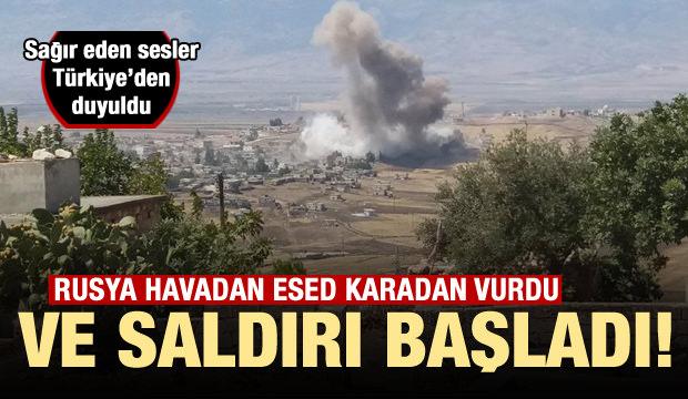 Rus savaş uçakları İdlib'i vurdu!