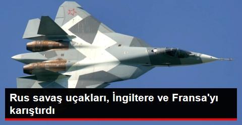Rus Savaş Uçaklarının Manş Denizi'nden Geçmesi Kafaları Karıştırdı