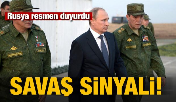 Rusya resti çekti! Savaş sinyali