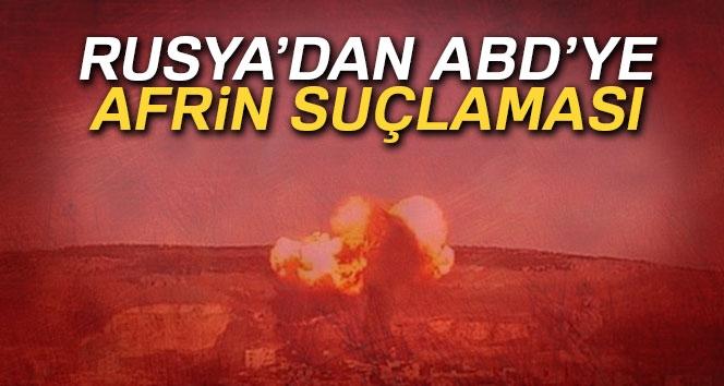 Rusya'dan ABD'ye Afrin Suçlaması...
