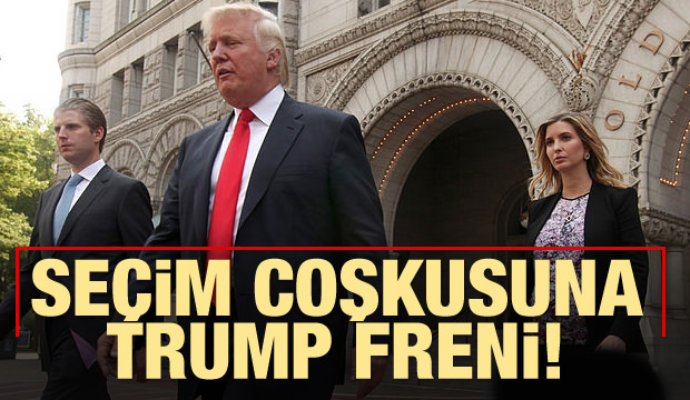 Seçim coşkusuna Trump freni!