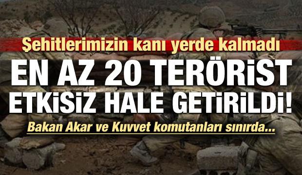 Şehitlerimizin intikamı alındı! En az 20 terörist etkisiz...