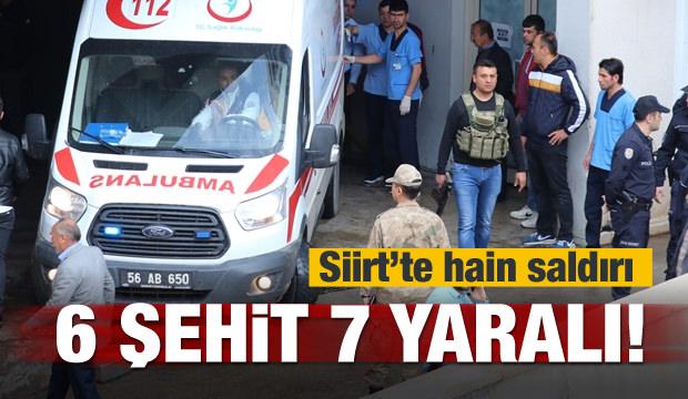 Siirt'te hain saldırı! 6 şehit