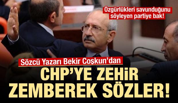 Sözcü yazarından CHP'ye zehir zemberek sözler!