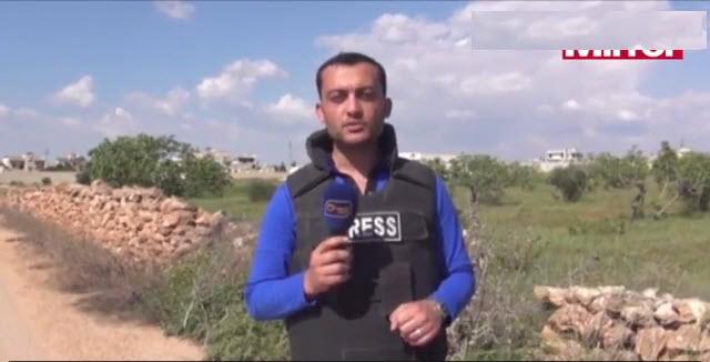 Suriye'de Canlı Yayın Sırasında Muhabir Bombadan Yaralandı