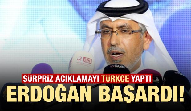 Sürpriz açıklamayı Türkçe yaptı: Erdoğan başardı