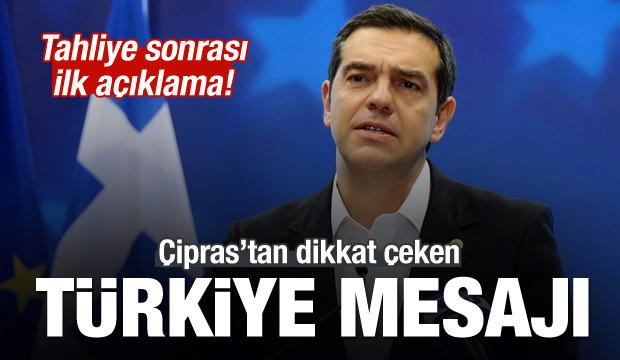 Tahliye kararı sonrası Çipras'tan Türkiye mesajı