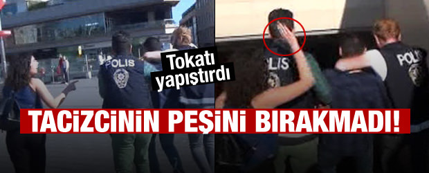 Taksim Metrosu'nda Tacizcisine Tokat Attı