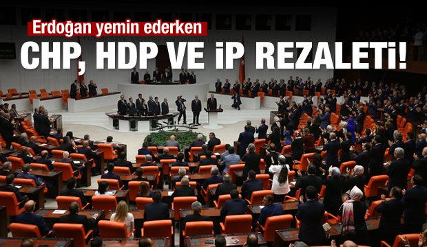 TBMM'de CHP, HDP ve İP rezaleti!