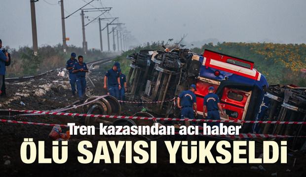 Tekirdağ'da tren kazası! Ölü sayısı yükseldi...