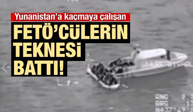 Tekneyle Kaçmak İsteyen FETÖ'cülerin Teknesi Battı!