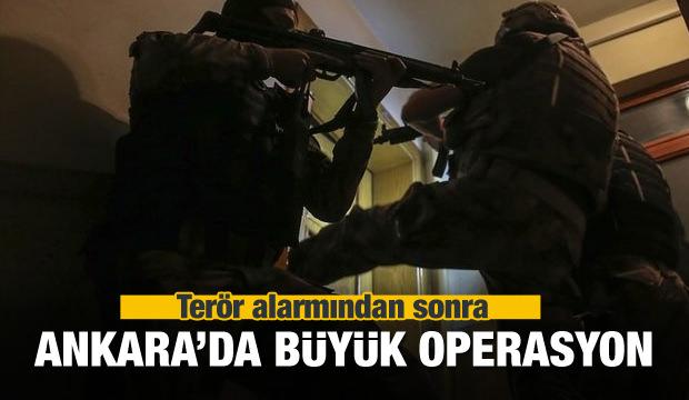 Terör alarmından sonra Ankara'da operasyon