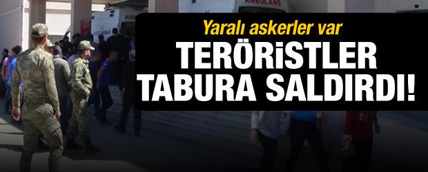 Teröristler tabura saldırdı! Yaralı askerler var