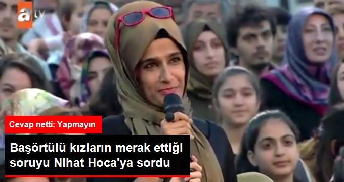 Tesettürlü İzleyiciden Nihat Hatipoğlu'na: Başörtüsü Üzerine Gözlük Takmak Caiz mi