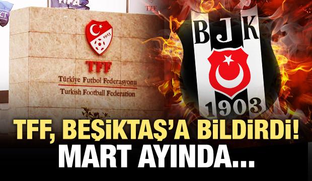 TFF Beşiktaş'a bildirdi! Şenol Güneş Mart ayında...