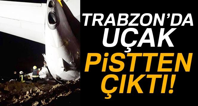 Trabzon Havalimanı'na İniş Yapan Ankara Uçağı Pistten Çıktı!