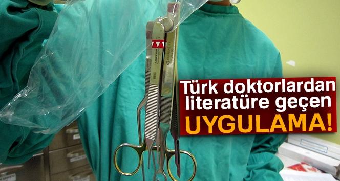 Türk Doktorlardan Literatüre Geçen Uygulama