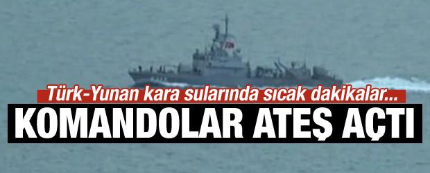 Türk-Yunan kara sularında sıcak dakikalar...