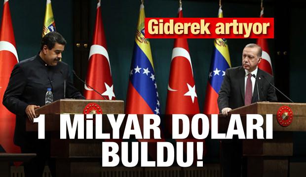 Türkiye ile Venezuela arasında 1 milyar dolarlık ticaret