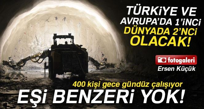 Türkiye ve Avrupa'nın 1., Dünyanın İse 2. En Uzun Tüneli Olacak