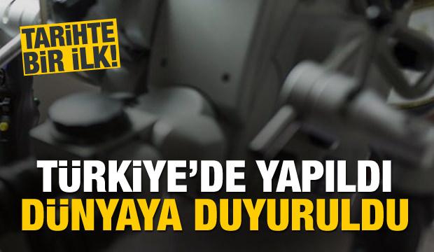 Türkiye'de yapıldı, dünyaya duyuruldu