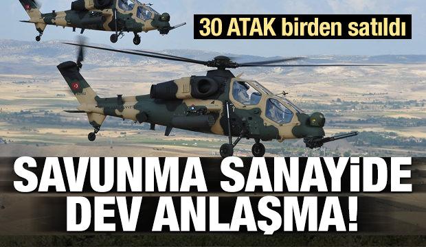 Türkiye'den tarihi anlaşma! 30 ATAK birden satıldı