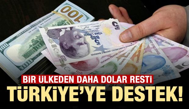 Türkiye'ye destek! Bir ülkeden daha dolar resti
