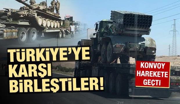 Türkiye'ye karşı birleştiler! Konvoy yola çıktı