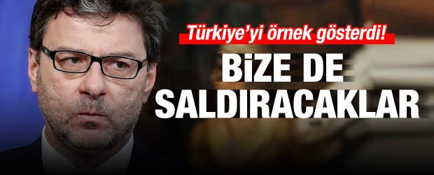 Türkiye'yi örnek gösterdi! Bize de saldıracaklar