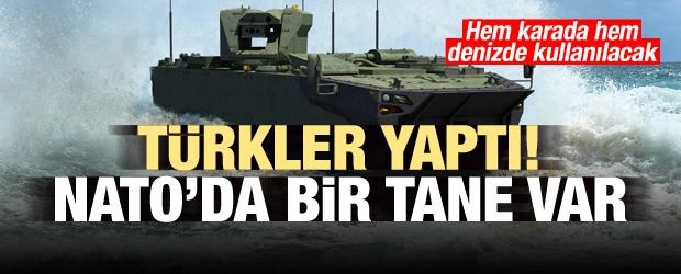 Türkler yaptı! Hem denizde hem karada kullanılacak