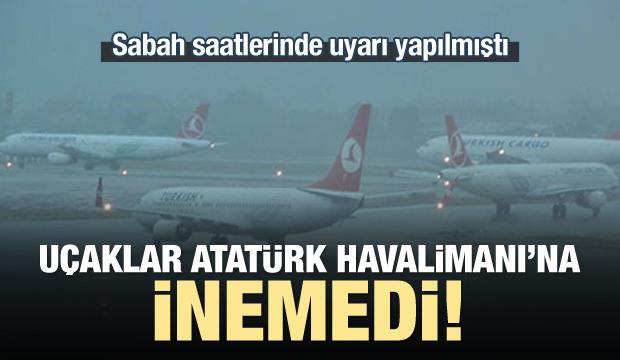 Uçaklar Atatürk Havalimanı'na inemiyor!