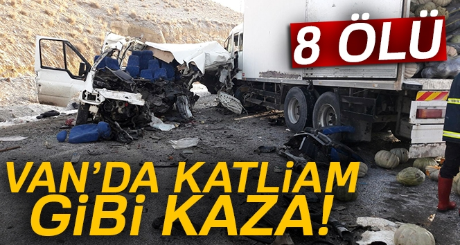 Van'da Trafik Kazası: 8 Ölü