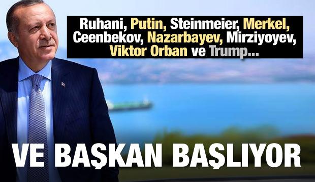 Ve Başkan başlıyor! Merkel, Putin, Ruhani ve Trump...