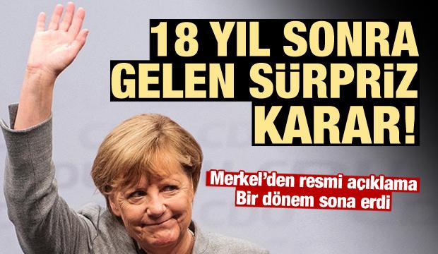 Ve Merkel'den resmi açıklama geldi: Bırakıyorum